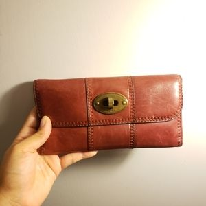 Vintage red Fossil wallet